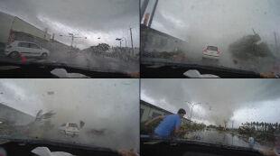 """Tornado """"zassało"""" samochód"""