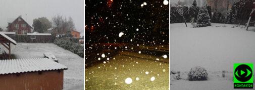 Zimowy akcent tej jesieni. U Reporterów 24 zrobiło się biało