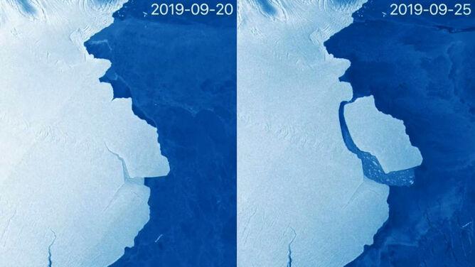 Góra lodowa trzy razy większa od Warszawy <br />oderwała się na Antarktydzie