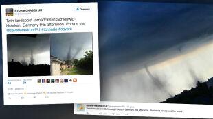 Bliźniacze tornada w Niemczech. To bardzo rzadkie zjawisko