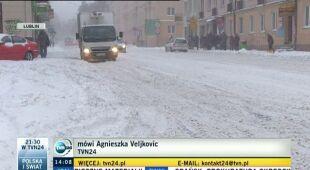 Utrudnienia w komunikacji w południowo-wschodniej Polsce (TVN24)